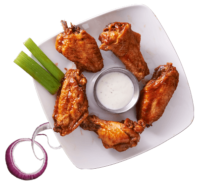 Chicago Street Pub, Grill & Banquets in De Pere WI Wings with Celery Onion